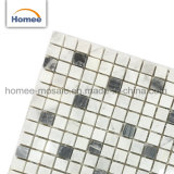 Quadratische dekorative italienische weiße Carrera Mischungs-bewölktes graues Marmormosaik