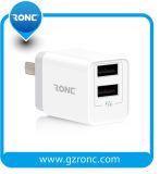 Напряжение питания на заводе, утвержденном CE двойные порты настенное зарядное устройство USB