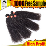 人間の毛髪のRemy 9Aのブラジルのバージンの毛