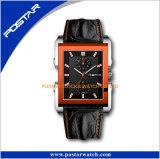 Eenvoudige Horloge van Leer psd-3166 van Postar het Model met Twee Kleine Ogen