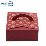 Rosafarbener Karten-Papier-Drucken-Kuchen-Verpackungs-Kasten (QY150399)