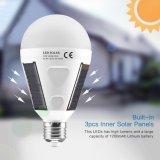 정원, 야영하는 하이킹을%s 태양 전지판 전구 LED 가벼운 E27 7W 휴대용 방수 비상등 전구