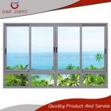 Ventana de desplazamiento de aluminio blanca del diseño abreviado con el vidrio Tempered doble