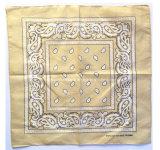 中国の工場農産物はロゴによって濃紺のペーズリーの綿のHeadwearの印刷されたバンダナをカスタマイズした