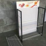 Estante creativo promocional de los estantes de visualización del alimento desmontable del alambre de metal del supermercado