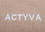 El bolso cosmético del yute con la impresión de Linging borda insignia