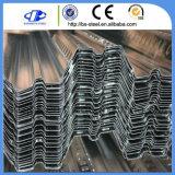 Hojas acanaladas galvanizadas de la hoja de la cubierta de suelo del metal