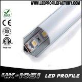 4105 Perfil de aluminio de 90 grados de iluminación LED para gabinete