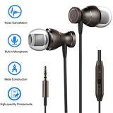 Kopfhörer-Sport InOhr Earbuds Geräusche, die Kopfhörer-Kopfhörer-Stereobaß mit Mic für Samsung-Galaxie-Anmerkung 8 S8 Fahrwerk V30 iPhone iPad iPod Android beenden