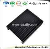 Disipador de calor del aluminio del negro 6063 de la fábrica para el amplificador audio auto