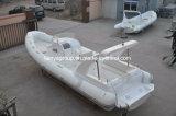 Liya 27pies bote inflable rígido Rib barco con cabina de lujo