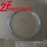 O CNC que faz à máquina o CNC parte componentes girados CNC de giro moldados da precisão das peças do CNC do OEM das peças das peças do plástico do PC das peças do plástico injeção material/precisão
