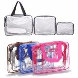 PVC構成の装飾的なハンドバッグは旅行のための防水浜袋を取り除く