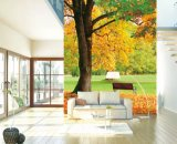 Le papier peint Design chinois populaire pour les murs, le formaldéhyde -gratuit, avec des arbres, peintures murales dans la salle de séjour d'utiliser