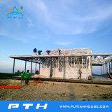 China prefabricados de acero de bajo coste de la luz de la Casa Villa