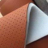 Esponja de 5 mm de microfibra de perforado de cuero para silla de coche la tapicería de puertas de coches