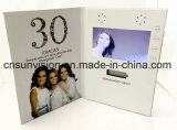 Vídeo de felicitación personalizada de la impresión de folleto de la tarjeta de invitación