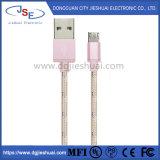 Trançado de nylon Fast Charge & Sync cabo Micro USB para Celular