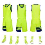 De último diseño venta al por mayor combinación de color verde gris Camiseta de baloncesto