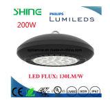 LED 높은 만 정착물 UFO 빛은 창고 공장 빛을 대체한다