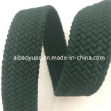 Acessórios de Moda Cor Verde da correia de Tecido trançado elástica