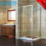 緩和されたガラスの安い価格のヒンジのシャワーのキュービクル(BL-L0091-C)