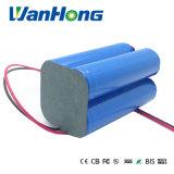 7,4V 18650 4400mAh Cap-Lamp Li-Thium Bateria para