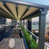 Heißer Verkauf Sunshading einziehbare Kabinendach-Systeme mit LED-Lichtern