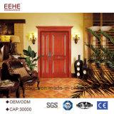 A porta dobro de madeira de madeira de portas de entrada projeta a porta da rua exterior