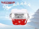 컵을 굽는 서비스 타임 Aquare 크리스마스 케이크와 푸딩