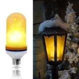AC 85V-265V E26/E27 7W 108PCS 2835 SMD LED decorativa lámpara efecto de llama