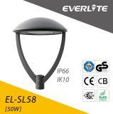 現代デザインETL Dlc IP65 LEDポストのトップ・ライト30W 50W 100W LEDの庭ライト