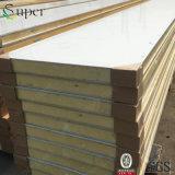 Pele de aço inoxidável PU painel para a sala fria e Congeladores industriais