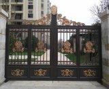 Usa hermosa decoración de hierro forjado galvanizado Casa Main Gate/acero puerta de entrada