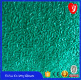 Forrado de algodón Guantes con recubrimiento de látex con superficie ondulada de fábrica