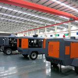 2つか4つの車輪ディーゼル携帯用移動式ねじ空気圧縮機