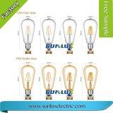 포도 수확 Retro Edison E27 4W 8W LED 필라멘트 전구 St64 지구 램프