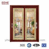 Portes coulissantes Windows d'aluminium de double vitrage pour l'intérieur/extérieur