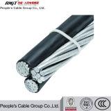 Gesprungenes Service Absinken-Aluminium Leiter-Luftteil 2 des Kabel-(ABC-Kabel) Triplex