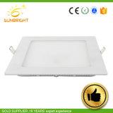 PMMA Blanco cálido de las luces del panel de aluminio