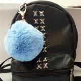 熱い販売の実質のキツネの毛皮袋のハンガーの曖昧な球Keychain