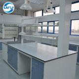 化学実験室の試薬ラックが付いているAcid-Resistant島の仕事台