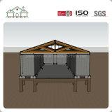 Camera del contenitore di Prefacricated con il tetto di timpano della struttura d'acciaio come workshop