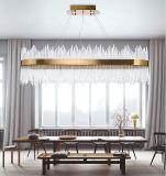 クリスタルグラスのレストランの居間の楕円形のペンダント灯
