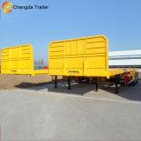 Полуприцеп трейлера 40ft контейнера Tri-Axle планшетный