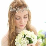 Головная стяжка Rhinestone устраивающих свадьбу ручной работы аксессуары для волос украшения устраивающих Tiara Headpiece (CR-01)