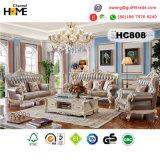Sofá del cuero genuino de la sala de estar de los muebles antiguos (HC808)