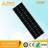 120W todo em um/integrou a luz de rua solar do diodo emissor de luz com a bateria de lítio LiFePO4
