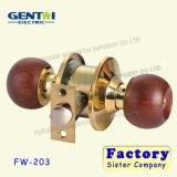 Fechamento de madeira tubular do botão da volta da alta qualidade