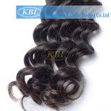 インドの人間の毛髪の緩い波の毛の拡張